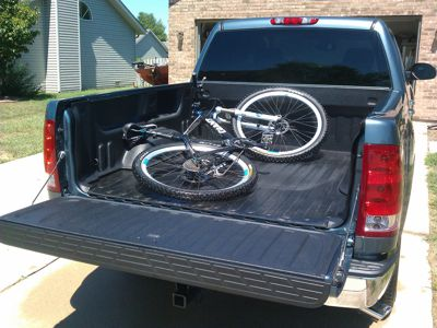DualLiner Bed Liner with a Bike in the Bed