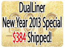 DualLiner is on sale for the New Year 2013!